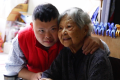 Lee Lan, 90, and her 47-year-old son Chan Chi-bun.