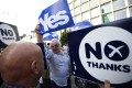 Yes and No voters argue in the run-up to the referendum on Scottish independence last September. Scotland and Hong Kong aren't closely comparable, but both have confronted issues about political rule. Photo: Reuters