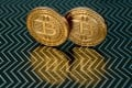 Bitcoin medals as New York chief financial regulator Benjamin Lawsky announced new rules for digital currencies. Photo: AFP