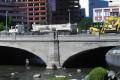 Crews work on Virginia Street Bridge in downtown Reno. Photo: AP