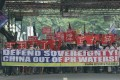 Filipino activists protesting against China's actions in the South China Sea, at a march in Manila last week. Photo: AP
