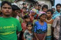 Rohingya Muslims gather at a refugee camp outside Sittwe, Myanmar. Phuket news website editor Alan Morison and reporter Chutima Sidasathian, who have been covering the Rohingya story for years, face two years in jail if found guilty. Photo: Reuters