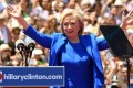 Former secretary of state Hillary Rodham Clinton officially launches her presidential campaign on Roosevelt Island yesterday. Photo: AFP