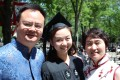 Chang Shuai on graduation day at Harvard last year with dad Chang Zhitao and mum Zhang Yihong.