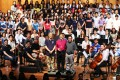 First Hong Kong Sheng Kung Hui Schools Alumni Choral Festival and its 450-strong chorus, organised for the first time in 170 years by the eight schools under the denomination, Diocesan Boys' School. Photo: K.Y. Cheng