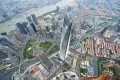 General view from the top of the under-construction Shanghai Tower in Shanghai. Photo: AFP