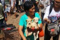 Yang Xiaoyun buying dogs in Yulin. Photo: SCMP Pictures