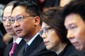 Keith Yeung (left) with Rimsky Yuen and Bar Association chairwoman Winnie Tam. Photo: Dickson Lee