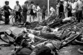 Bodies lie among mangled bicycles near Tiananmen Square in this file photo from the aftermath of the 1989 protests. Twenty-six years after the bloody crackdown in which an unknown number died, the Chinese government's web of silence remains. The precise number of victims is unknown, their names and stories largely untold. Photo: AP