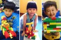 Children with their Lego creations made during a class at Shanghai's VZ International Creative Centre. Photos: Mandy Zuo