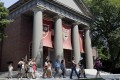 Harvard's campus in Cambridge, Massachusetts. The university denies being biased against Asian admissions. Photo: AP