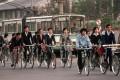 People carriers in Beijing, circa 1989. Photo: Corbis