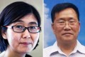 Chinese rights lawyer Wang Yu (left) disappeared on Thursday. More than 100 lawyers and activists, including Wang's colleague, Zhou Shifeng (right), have been caught up in a police crackdown. Photos: AFP, Weibo