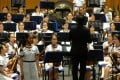 The girls' school orchestra in full flow. Photo: SCMP Pictures