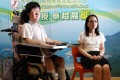 Josy Chow with principal Mie Chow Nga-yi. Photo: Dickson Lee