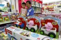 Shopping malls in China are increasingly allocating more space to children's section to lure the youngsters so that their families will stay there longer. Photo: Reuters