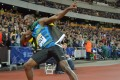 Usain Bolt made his bow and arrow stance his signature. Photo: USA Today Sports