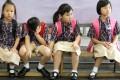 The first day of the school year at Lam Tsuen Public Wong Fook Luen Memorial School, Tai Po.