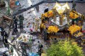 The attack took place at the Erwawan Shrine which is close to some of Bangkok's most popular upscale shopping malls and a busy street at 6.30 pm. Photo: Reuters