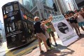Petitioners rally from Western Market in Sheung Wan to Pedder Street in Central to save the tram. Photo: SCMP Pictures