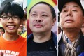 Joshua Wong, Benny Tai and Jimmy Lai were voted the most hated political figures according to a poll by the Silent Majority for Hong Kong. Photos: SCMP