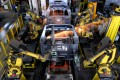 Industrial robots weld automobile bodies at a workshop of a motor vehicle manufacturing factory in Liuzhou city, southwest China's Guangxi Zhuang Autonomous Region. Photo: Imaginechina