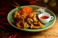 Thai-style fried oyster cake at Promenade