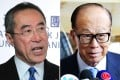 Henry Tang (left) has voiced support for embattled tycoon Li Ka-shing. Photos: Bruce Yan, Nora Tam