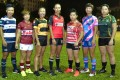 Captains of the seven clubs who will compete for HKRU Women's Premiership honours this 2015-16 season. Photo: HKRU