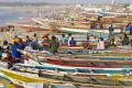Fishing boats pulled up on the beach in Kayar, Senegal. Photo: Corbis