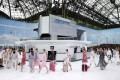 The Chanel Airlines theme for the French fashion house's Paris show was a hit. Photo: AFP
