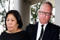 Herminia Garcia was sentenced to 12 months in jail for overstaying but her de facto husband Nick Cousins avoided prison. Photo: Felix Wong