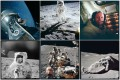 Pictures from the various Apollo missions are shown in this combination photograph. They are among over 12,000 photos from Nasa's archives recently aggregated on the Project Apollo Archive Flickr account. Photo: Reuters