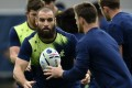 Scott Fardy in training for the quarter-final against Scotland. Photo: AFP