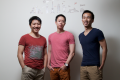 From left to right: Bernie Xiong, Eric Gnock Fah and Ethan Lin, co-founders of Klook, pose for a photograph at their office in Hong Kong. Photo: SCMP Pictures