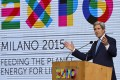 """US Secretary of State John Kerry spoke at the Milan Expo, whose theme this year is """"Feeding the Planet, Energy for Life."""" Photo: AFP"""