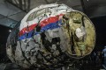 The reconstructed wreckage of Malaysia Airlines flight MH17 is shown after a presentation in the Netherlands on Tuesday of the final report into the crash that occurred on July 2014 over Ukraine. Photo: Reuters