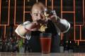 Armani Aqua bar supervisor Marlon Caparas makes a Bloody Mary. Photo: May Tse