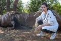 Li Bingbing visited Kenya in 2013 to highlight the plight of African elephants. Photo: AFP