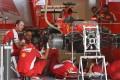 Pit crew work on Sebastian Vettel's Ferrari at the Circuit of the Americas. Photo: AFP
