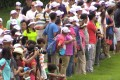 Some fans decided against following Justin Rose because it was too crowded. Photo: SCMP Pictures