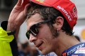 Valentino Rossi denies kicking out at Marc Marquez. Photo: AFP