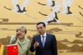 Angela Merkel and Premier Li Keqiang last year. Photo: Reuters