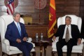 US Secretary of State John Kerry (left) meets with Sri Lankan Prime Minister Ranil Wickremesinghe in Colombo in May.Photo: Xinhua
