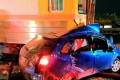 The car was left a mangled wreck by the crash. Photo: SCMP Pictures