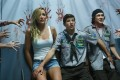 Sarah Dumont, Tye Sheridan and Logan Miller in Scouts Guide to the Zombie Apocalypse. The film (Category IIB and III) is directed by Christopher Landon