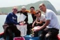 Underwater Heritage Group members Bill Jeffery, Tammy Chan, Marco Li, Lydia Ho and Rick Chan. Photo: SCMP Pictures