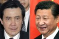 President Xi Jinping (right) and Taiwan's President Ma Ying-jeou, who will meet in Singapore on Saturday. Photos: Reuters