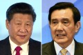 Chinese President Xi Jinping and Taiwan's President Ma Ying-jeou will meet in Singapore on Saturday. Photo: AP, AFP