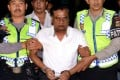 The Indian fugitive Chhota Rajan, wanted over a series of murders in India was arrested in Indonesia flown by Indian Air Force jet to Delhi. Photo: AFP